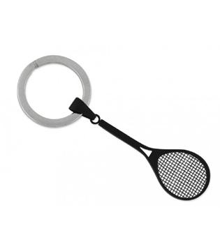 Llavero de acero con forma de raqueta de venta en nuestra tienda on line