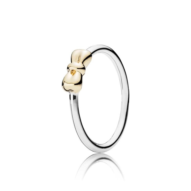 anillo lazo pandora oro