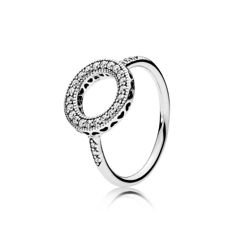 anillo pandora corazones circonitas