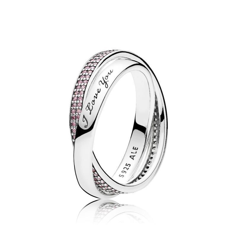 pandora anillo rosa