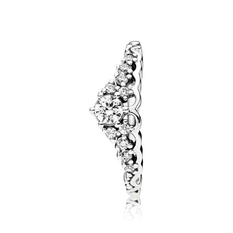 anillo tiara pandora plata