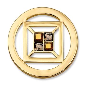 Moneda de acero cubo oro SW-CUB-02-S