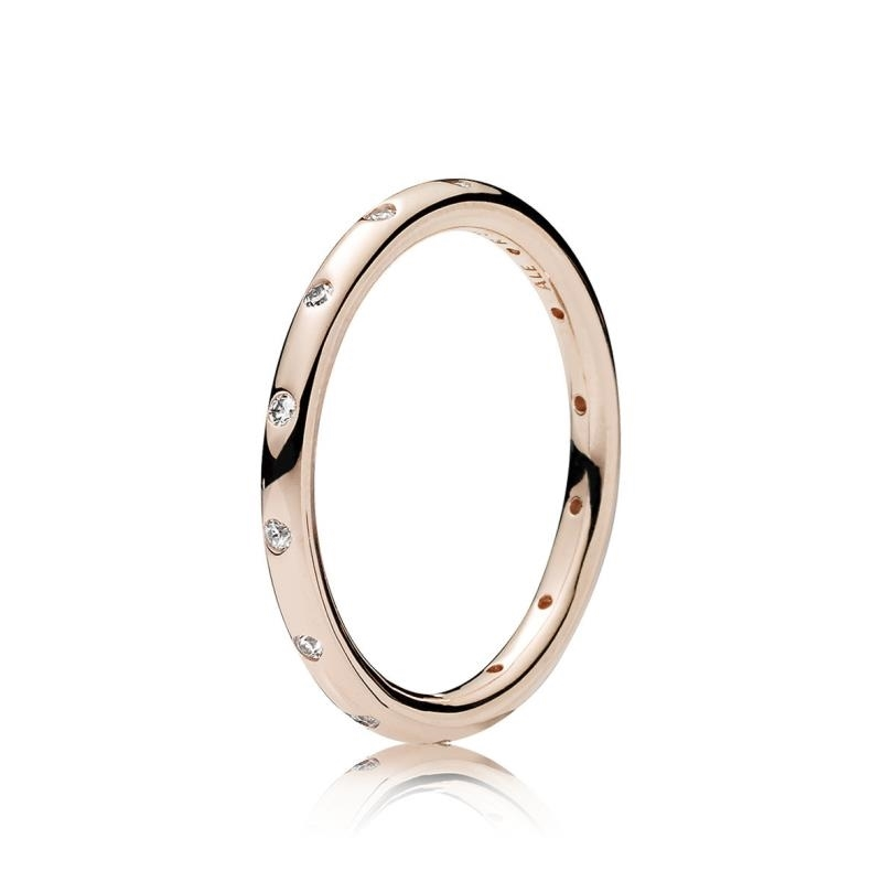 anillo pandora rosa brillante
