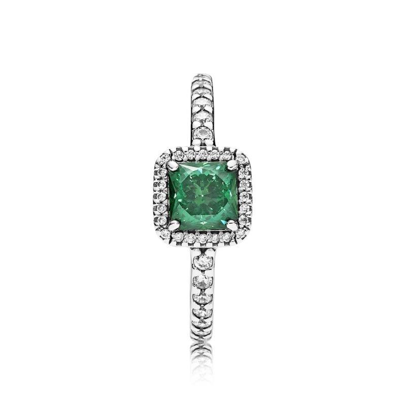pandora anillo verde