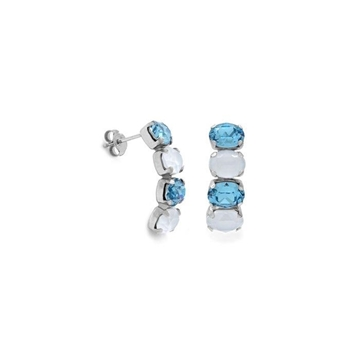 Pendientes plata Swarovski azul