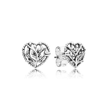 Pendientes PANDORA corazones florecientes 297085