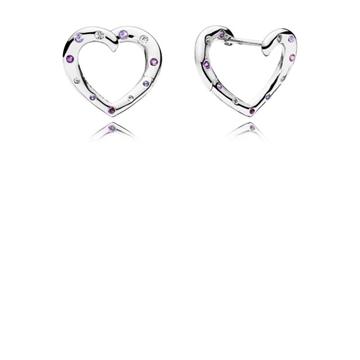 Pendientes PANDORA 297231NRPMX corazones brillantes