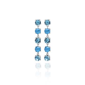 Foto de Pendiente 5 cristales redondos