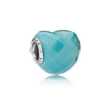 Charm PANDORA 796563NSC forma de amor azul