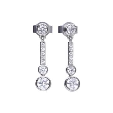Pendientes DIAMONFIRE plata circonita 6220061082
