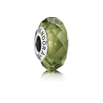 Charm PANDORA murano facetado verde 791729NLG