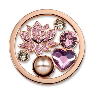 Foto de Moneda de acero calada flor de loto