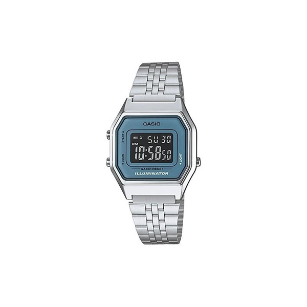 4f53c1356041 Reloj digital CASIO retro azul LA-680WE-2B