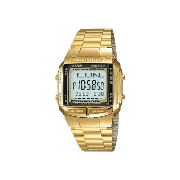 1472cd457129 Reloj CASIO digital retro dorado cuadrado. Reloj CASIO digital oro