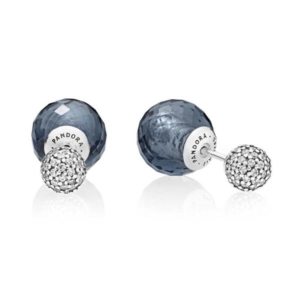 Pendientes PANDORA gotas brillantes azul medianoche 296355NBC