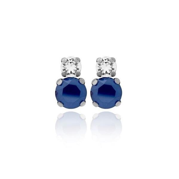 Pendientes plata Swarovski celine azul y crystal