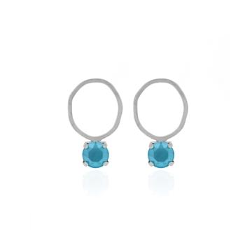 Pendientes para mamá con cristal Swarovski azul