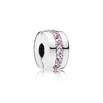 Clip PANDORA 791972PCZ sendero luminoso rosa