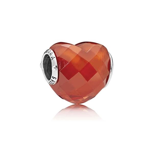 Charm PANDORA 796563OCZ forma de amor naranja