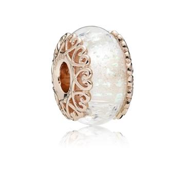Foto de Charm PANDORA rose cristal blanco iridiscente