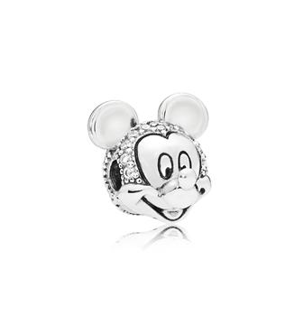 Foto de Clip en Plata de Primera Ley Circonitas Disney Mickey