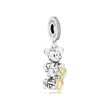 """Foto de Charm Colgante en Plata de Ley y Oro 90 Aniversario de Mickey """"Edición Limitada"""""""