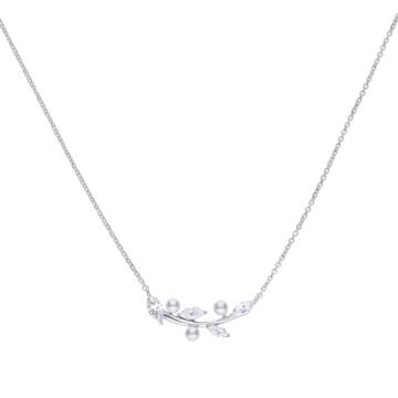 Collar DIAMONFIRE 6311201111 perlas hoja
