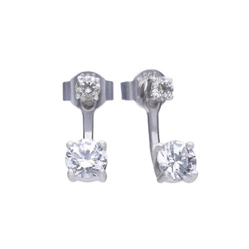 Pendientes DIAMONFIRE ear cuff dobles con circonita 6219691082