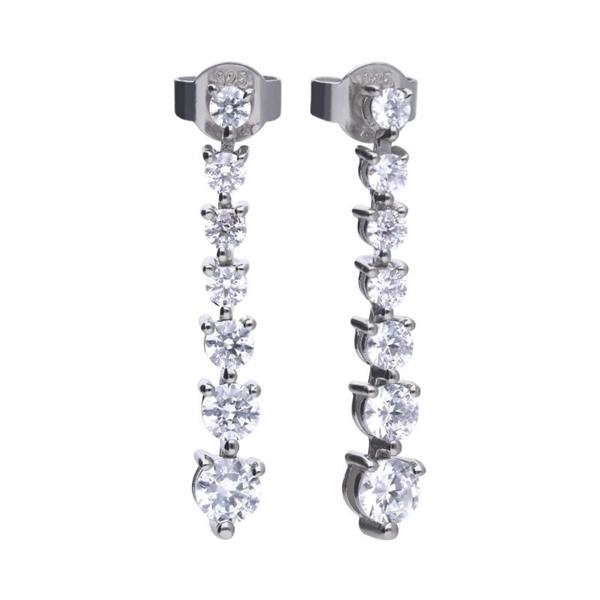 Pendientes DIAMONFIRE largos con circonitas 6215841082