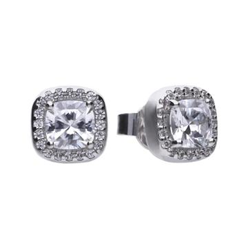 Pendientes DIAMONFIRE de plata con circonita cuadrada 6214661082