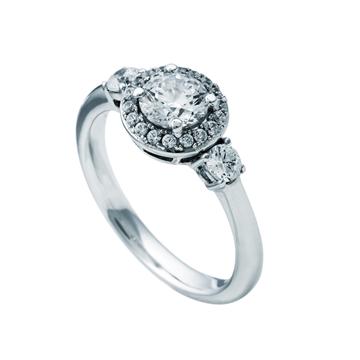 Anillo DIAMONFIRE plata circonitas roseton 6109941082
