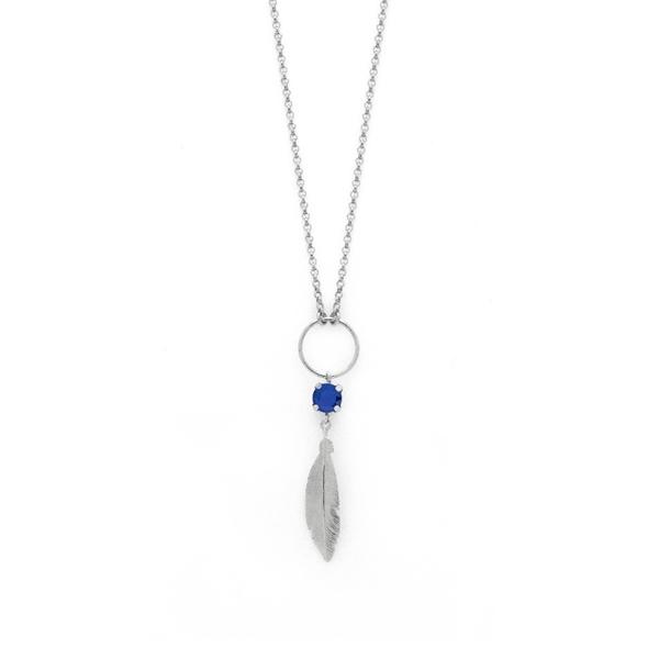 pluma plata collar