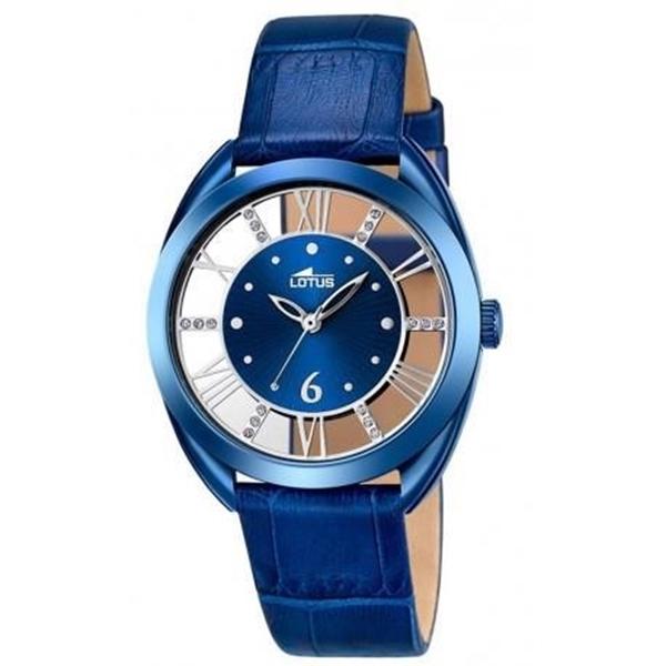 Foto de Reloj LOTUS para mujer trendy piel azul