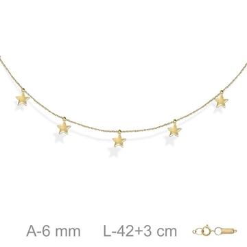 Foto de Gargantilla oro estrellas colgantes