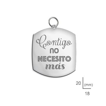 Foto de Colgante de plata con mensaje