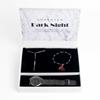 Set de regalo de reloj pulsera y collar LUXENTER heha