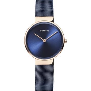 Foto de Reloj BERING minimalista con detalles azules y rose