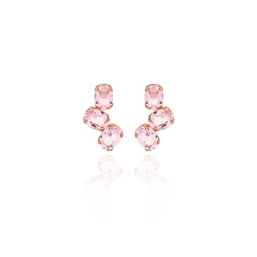 Foto de Pendientes VC triple ovalo light rosa