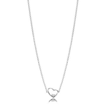 collar PANDORA corazon de amor asimetrico 397797CZ