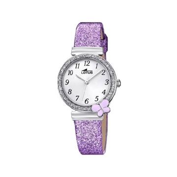 Foto de Reloj LOTUS niña mariposa purpurina