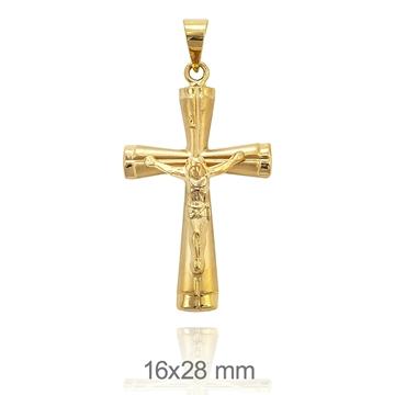 Cruz de oro de 18k Cristo