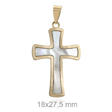 Cruz de oro y nacar