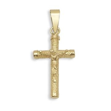 Cruz de oro con cristo diamantada