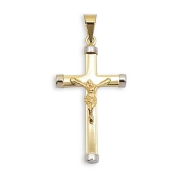 Cruz de oro bicolor con Cristo