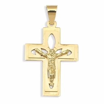 Cruz de oro calada