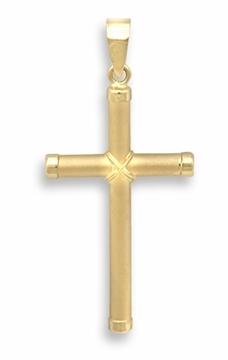 Cruz de oro tubo grande