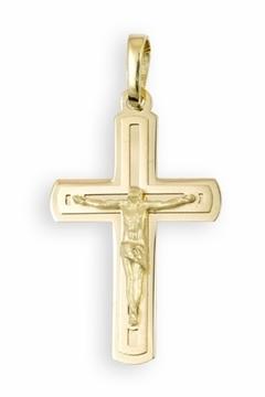 Foto de Cruz de oro con Cristo pequeña