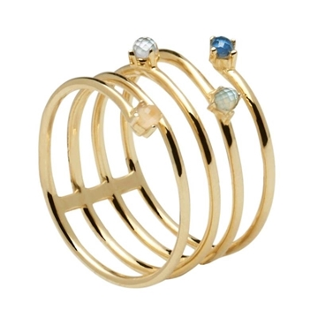 Anillo PDPAOLA ultramarine gold AN01-122