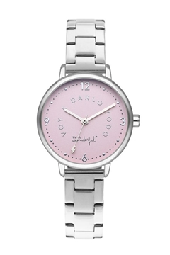 Foto de WATCH SHINE AND SMILE/ SILVER & PINK/ BR