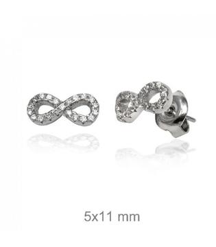 Foto de Pendientes de plata infinito con circonitas